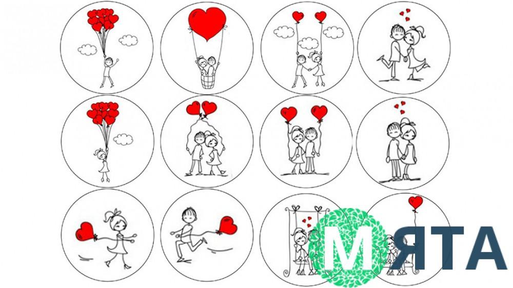 Съедобная картинка День Влюбленных 3
