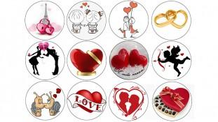 Съедобная картинка День Влюбленных 6