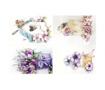 """Съедобная картинка """"Цветы"""" 13"""