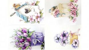 Съедобная картинка Цветы 13