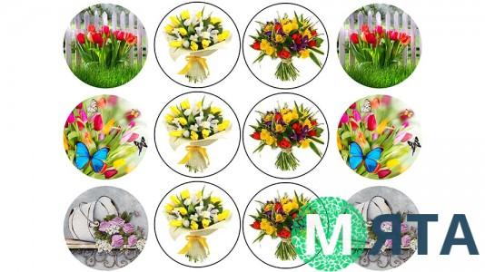 Съедобная картинка Цветы 16