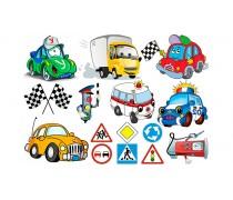 Машинки и дорожные знаки