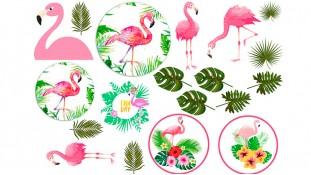 Съедобная картинка с Фламинго 3