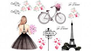 """Съедобная картинка """"Девушка в Париже"""" 2"""