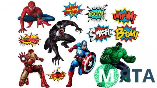 Супергерои +поп арт 3
