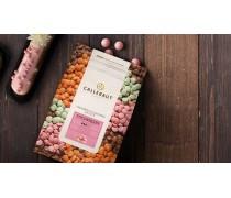 Розовый шоколад со вкусом клубники Callebaut Strawberry