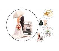 Пищевая картинка Свадебная 5