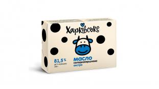 Масло Сладкосливочное Экстра 81,5%, Харьковское, 200 грамм