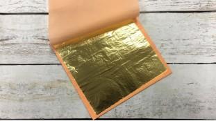 Сусальное золото (поталь), лист 16х16