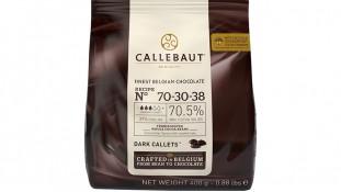 Шоколад темный Callebaut 70-30-38. 400грамм