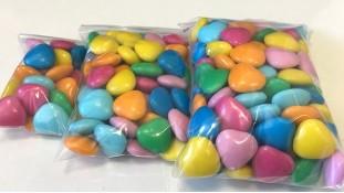 Драже молочный шоколад Разноцветные Сердца