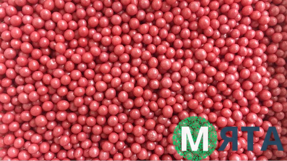 Мягкие сахарные шарики, Красные