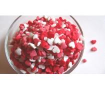 Сахарная посыпка Сердечки №5 красно-белые-розовые