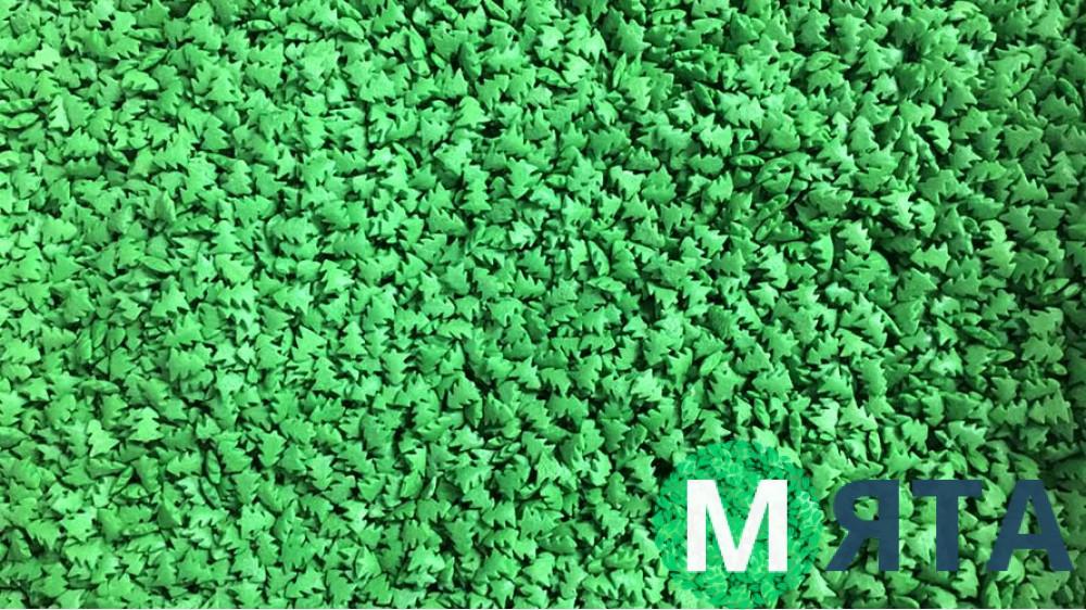 Сахарная посыпка Елочки зеленые