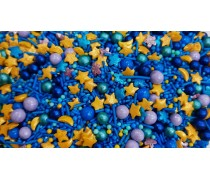Сахарная посыпка Микс с шариками №21. Голубой