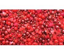 Сахарная посыпка Микс с шариками №7. Красный