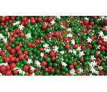 Сахарная посыпка Микс с шариками №9. Красно-зеленый