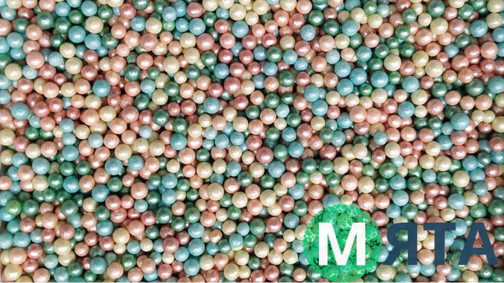 Сахарные шарики перламутровые микс №1