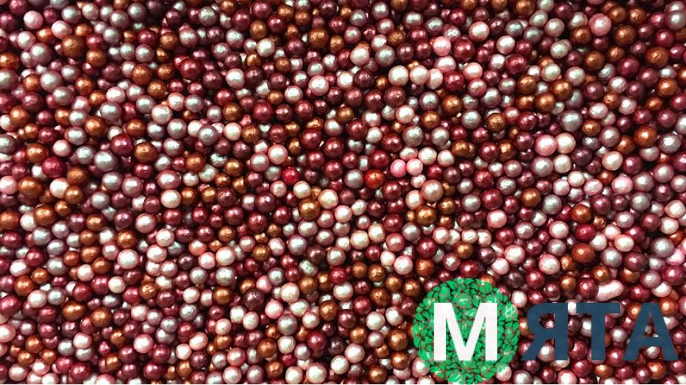 Сахарные шарики перламутровые микс №3