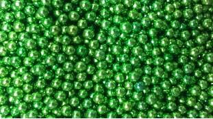 Сахарные шарики, зеленые 3-7 мм
