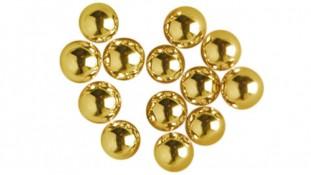 Сахарные шарики, золотые 2-7 мм