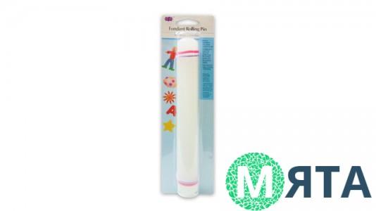 Скалка для мастики пластиковая с ограничителями, маленькая