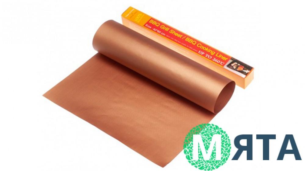 Тефлоновый коврик для выпечки, коричневый