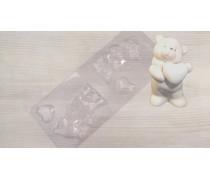 Молд для шоколада и мастики 3Д Мишка с сердцем