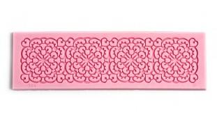 Мини коврик силиконовый для айсинга и мастики прямоугольник Ажур