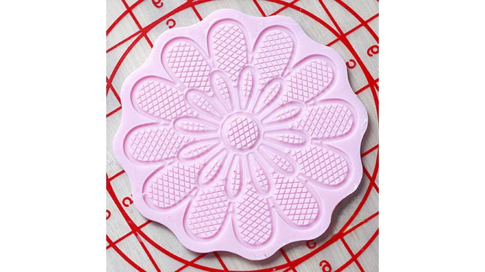 Мини коврик силиконовый для айсинга и мастики Ромашка двойная