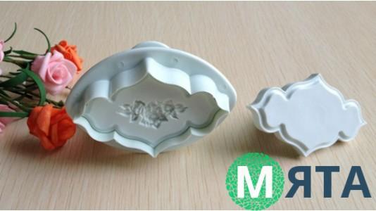 Плунжеры для мастики Гладкий и Роза. 2 штуки
