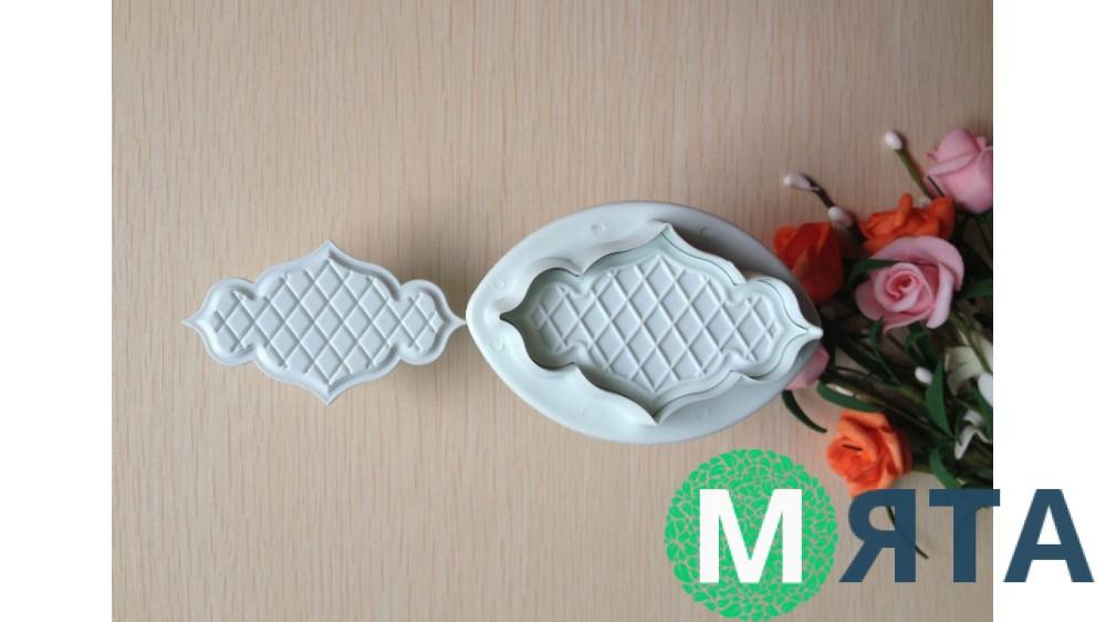 Плунжеры для мастики Ажурные Рифленые. 2 штуки