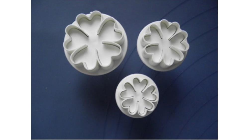 Плунжеры для мастики Цветы. 3 штуки