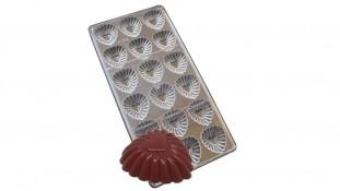 Поликарбонатная форма для конфет Ажурное Сердце