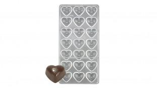 Поликарбонатная форма для конфет Гладкое Сердце