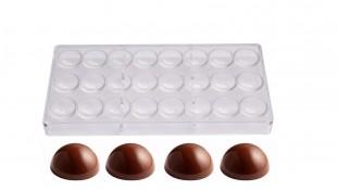 Поликарбонатная форма для конфет Полусферы