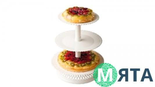 Стойка для торта и десертов 3-ярусная