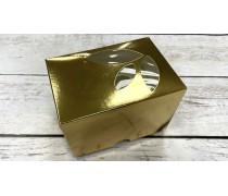 Коробка 12х8,5х9 см  (1 капкейк). Золото
