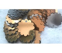 Бирка Цветок, картон золото/серебро