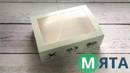 Коробка 11,5х15,5х5 см с окном Щастя поруч