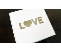 Коробка 15х15х5 см, Love