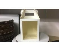 Коробка 16,5х16,5х20 см с окном
