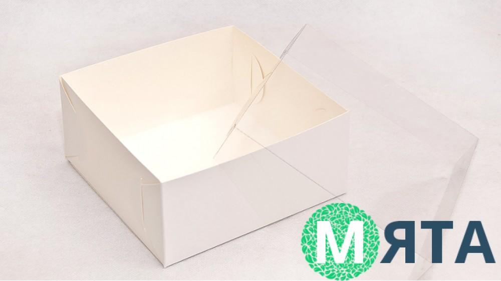 Коробка 17х17х8 с прозрачной крышкой