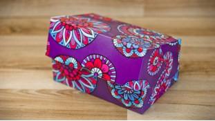 Коробка 18х12х8 см (2 капкейка) Цветы