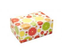 Коробка 18х12х8 см (2 капкейка) Цитрусы