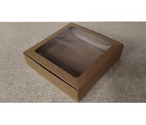 Коробка 20х20х5 см, крафт