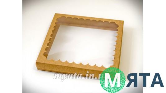 Коробка для пряников, 21 см. Крафт-картон