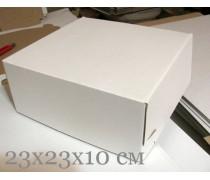 Коробка для торта и хендмэйда 23х23х10 см