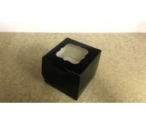 Коробка для 1 капкейка, Черная