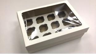 Коробка для 12 капкейков с окном